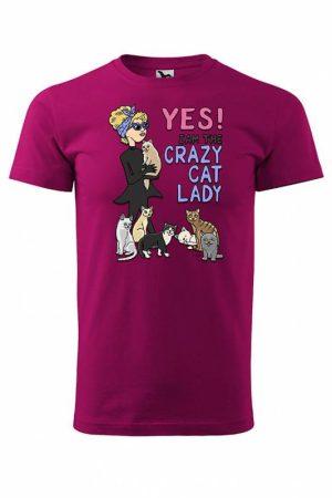 Crazy Cat Lady T-paita  016590