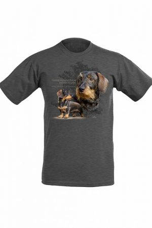 DC Karkeakarvainen mäyräkoira lasten T-paita   026580
