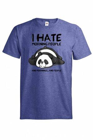 Panda I hate mornings T-paita   010325