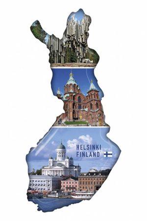 Kartta, Helsinki Epoxy Magnet     481234