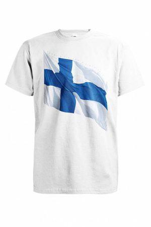 DC Liehuva Suomen lippu T-paita   017462
